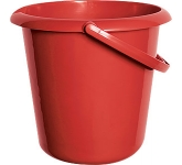 10 Litre Primary Plastic Bucket  by Gopromotional - we get your brand noticed!