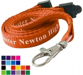 10mm Flat Polyester Lanyard  by Gopromotional - we get your brand noticed!