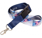 15mm Dye Sublimation Flat Polyester Lanyard