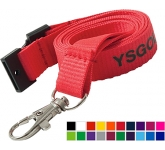 15mm Flat Polyester Lanyard  by Gopromotional - we get your brand noticed!
