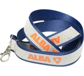 15mm Glitter Covered Polyester Lanyard  by Gopromotional - we get your brand noticed!