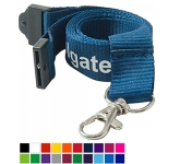 20mm Flat Polyester Lanyard  by Gopromotional - we get your brand noticed!