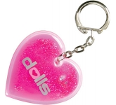Heart Shaped Liquid Keyring  by Gopromotional - we get your brand noticed!
