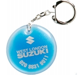 Round Shaped Liquid Keyring  by Gopromotional - we get your brand noticed!