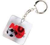 Square Shaped Liquid Keyring