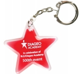 Star Shaped Liquid Keyring