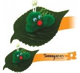 Leafy Caterpillar Logo Bug
