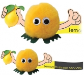 Lemon Handholder Logo Bug  by Gopromotional - we get your brand noticed!