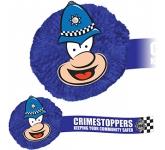 Policeman Mophead Card Face Logo Bug