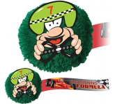 Racing Driver Mophead Card Face Logo Bug  by Gopromotional - we get your brand noticed!