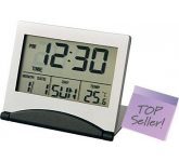 Folding Slimline LCD Metal Alarm Clock