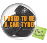 Round Recycled Tyre Brite Mat  by Gopromotional - we get your brand noticed!