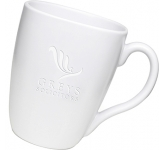 Quadra Etched Mugs - White