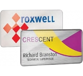 Spot Colour Metal Name Badge  by Gopromotional - we get your brand noticed!