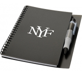 A5 Paradigm Spiral Bound Notebook & Pen  by Gopromotional - we get your brand noticed!