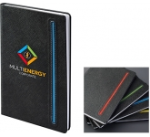 Denim A5 Black Notebook  by Gopromotional - we get your brand noticed!