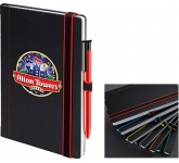 Edgy Colour A5 Notebooks & Absolute Pen  by Gopromotional - we get your brand noticed!