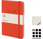 Moleskine Classic A5 Hardback Notebooks - Squared Page  by Gopromotional - we get your brand noticed!