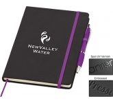 A5 Memphis Notebook & Contour Pen  by Gopromotional - we get your brand noticed!