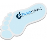 125 x 75mm Feet Shaped Sticky Note  by Gopromotional - we get your brand noticed!
