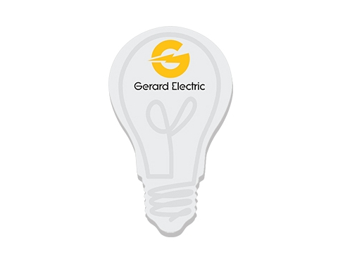 Save On 125 X 75mm Light Bulb Shaped Sticky Note Printed