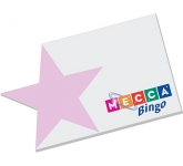 125 x 75mm Star Edge Shaped Sticky Note  by Gopromotional - we get your brand noticed!