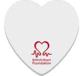 75 x 75mm Heart Shaped Sticky Note  by Gopromotional - we get your brand noticed!