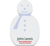 A6 Snowman Shaped Sticky Note