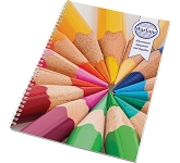 A4 Spiral Bound Notepad  by Gopromotional - we get your brand noticed!