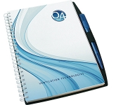 A5 Platinum Polyprop Spiral Bound Notepad  by Gopromotional - we get your brand noticed!