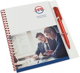 A5 Polyprop Spiral Bound Notepads & Pen  by Gopromotional - we get your brand noticed!