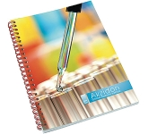 A5 Polyprop Spiral Bound Notepad  by Gopromotional - we get your brand noticed!