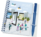 A6 Polyprop Spiral Bound Notepads & Pen  by Gopromotional - we get your brand noticed!