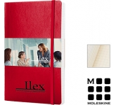 Moleskine Classic A5 Soft Feel Notebooks - Squared Page  by Gopromotional - we get your brand noticed!