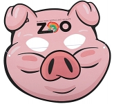 Pig Card Face Mask  by Gopromotional - we get your brand noticed!