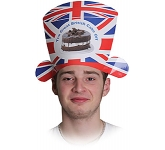 Union Jack Card Shaped Hat  by Gopromotional - we get your brand noticed!