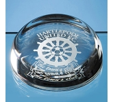 Edinburgh Lead Crystal Flat Top Paperweight