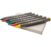 Junior Six Piece Wax Crayon Set  by Gopromotional - we get your brand noticed!