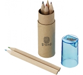 London 6 Piece Coloured Pencil Set  by Gopromotional - we get your brand noticed!