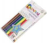 Carnival Six Pack Of Mini Colouring Pencils