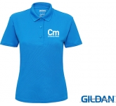 Gildan Womens Performance Double Pique Sports Polo Shirts - Coloured