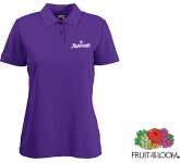 Fruit Of The Loom Women's Fit Polo Shirts - Coloured