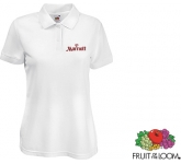 Fruit Of The Loom Women's Fit Polo Shirts - White