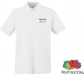 Fruit Of The Loom Premium Polo Shirts - White  by Gopromotional - we get your brand noticed!