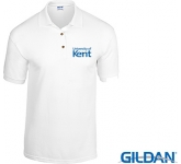 Gildan DryBlend Jersey Knit Polo Shirts - White  by Gopromotional - we get your brand noticed!