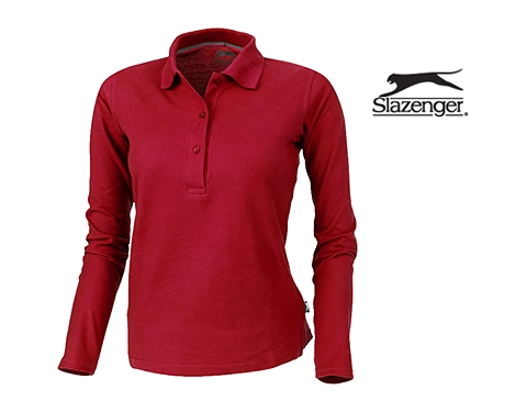 04757170b2 Promotional Slazenger Point Women's Long Sleeved Polo Shirt Printed with  your Logo at GoPromotional Ireland