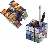 Rubik's Pen Pot  by Gopromotional - we get your brand noticed!