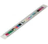 300mm Oval Scale Ruler
