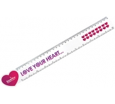 30cm Heart Shaped Ruler  by Gopromotional - we get your brand noticed!