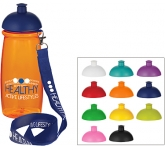 Splash 600ml Domed Top Lanyard Sports Bottle